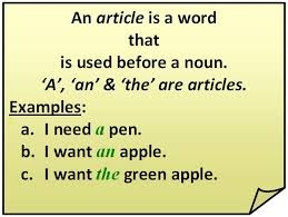 Article a,an and the