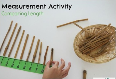 Measurement- length vocabulary introduction